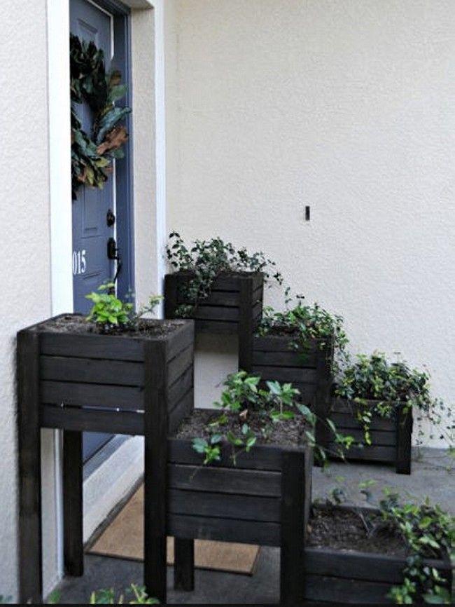 Jardineras de paletas de madera
