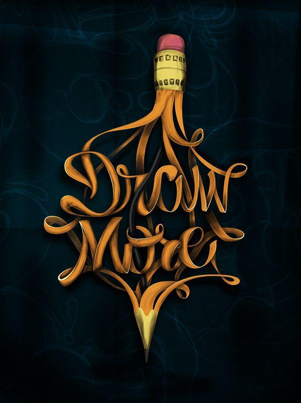 Draw More by Felix Hornoiu, via Behance. Love this for my artist tattoo