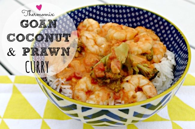 Mrs D plus 3 | Thermomix prawn and coconut curry. This deliciously quick and simple meal of perfect for busy week nights. | http://www.mrsdplus3.com