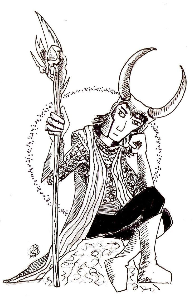 Segunda vez que dibujo a Loki, creo que es mi villano favorito ;-) Y yo que pensaba que era Maléfica y/o Úrsula (en un futuro las dibujaré) Aquí se puede ver el dibujo del Loki anterior (hace meses…