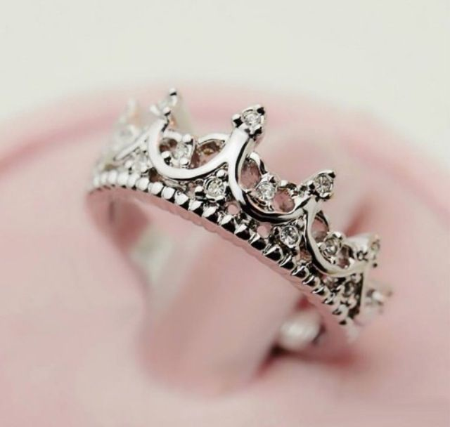 princess ring- wear it on your left ring finger to remind yourself not to settle for anyone that doesn't treat you like a princess.