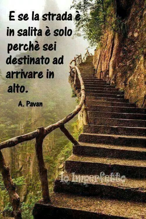 Parole e ispirazione - Y si el camino es cuesta arriba es sólo porque estás destinado a llegar alto.