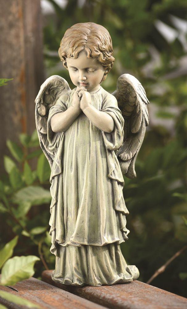 Praying Angel Cherub Garden Statue Memorial Decor