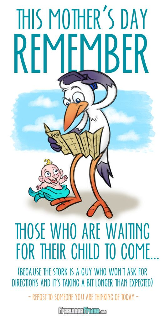 Remembering the women who long to be mothers today. Stork Mother's Day Cartoon