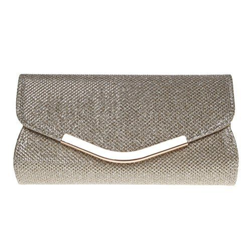 New Trending Clutch Bags: Fashion Road Evening Clutch, Womens Mini Glitter Clutch Purses For Wedding  Party Gold. Fashion Road Evening Clutch, Womens Mini Glitter Clutch Purses For Wedding  Party Gold  Special Offer: $9.99  266 Reviews Features: Material: PU Size: 7.1*1.2*3.7 inch Color: Gold/Pink Package: A Evening Clutch Design  Occasion This glitter evening purse makes you a...