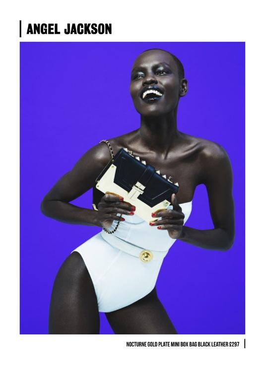 Grace Bol @StormModels for @AngelJacksonUK #SS13 look book shoot @Bea_Sweet @SarahPiantadosi @Melissa_______T