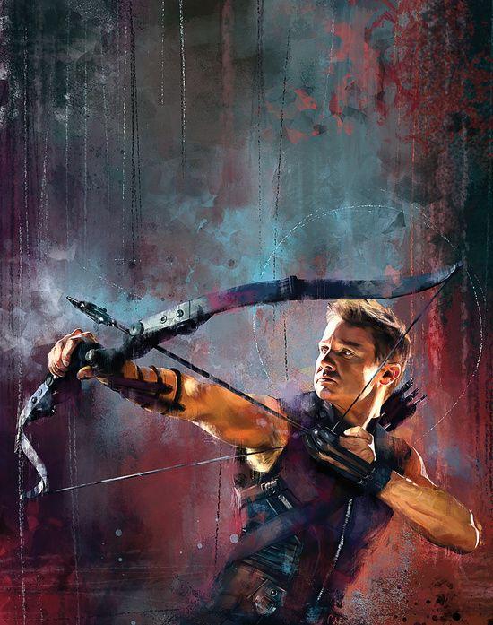 Clint Barton Canvas Print by Wisesnail
