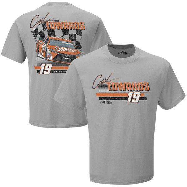 Carl Edwards Joe Gibbs Racing Team Collection Darlington Retro T-Shirt - Silver - $20.99