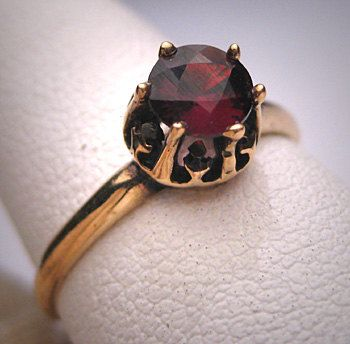 antique garnet wedding ring gold victorian by aawsombleijewelry 98500