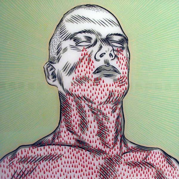 """Conrad Botes """"Weeping Zombies II """", painting on glass"""