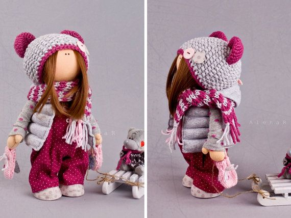 Baby doll Winter doll Christmas doll Handmade doll Red doll Soft doll Art doll…
