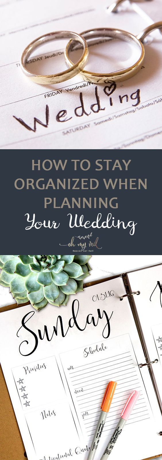How to Stay Organized Planning Your Wedding