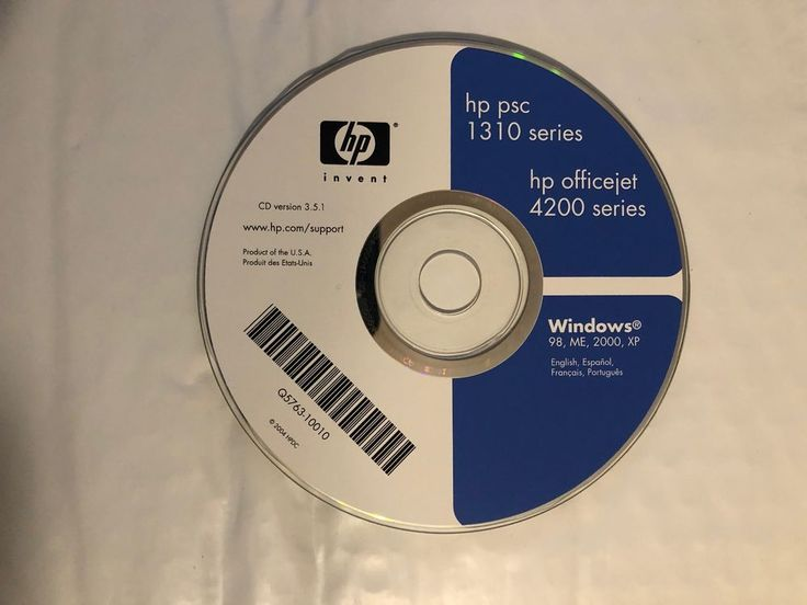 HP Officejet 4200 Series Printer Software DISC ONLY WIN 98/ME/2000/XP #HP