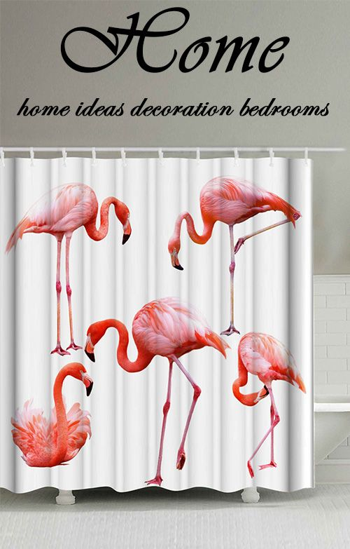 Flamingo Mildewproof Polyester Shower Curtain. Inexpensive Home DecorHome  ...