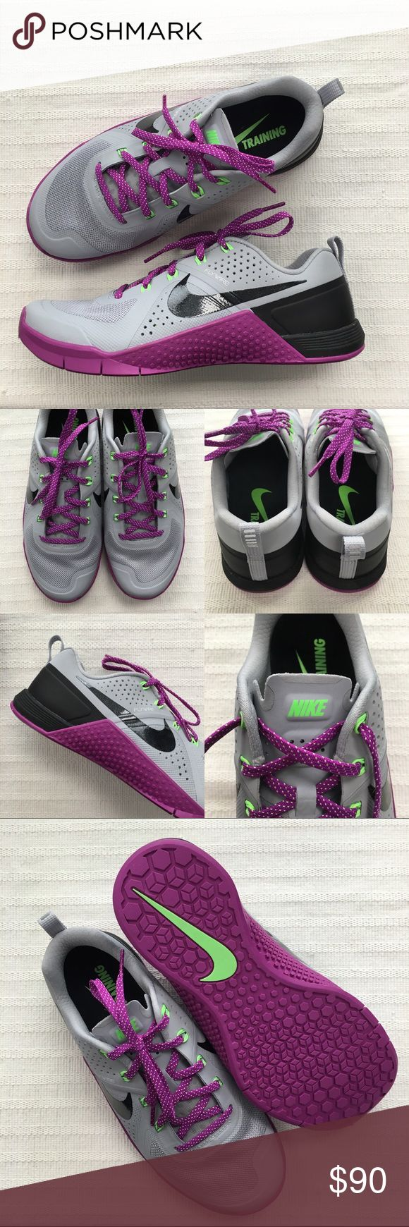 Women's Nike Metcon 1 Crossfit Training Shoes Women's Nike Metcon 1 Crossfit Training Shoes Style/Color: 813101-005  • Women's size 9  • NEW in box (no lid) • No trades •100% authentic Nike Shoes Sneakers