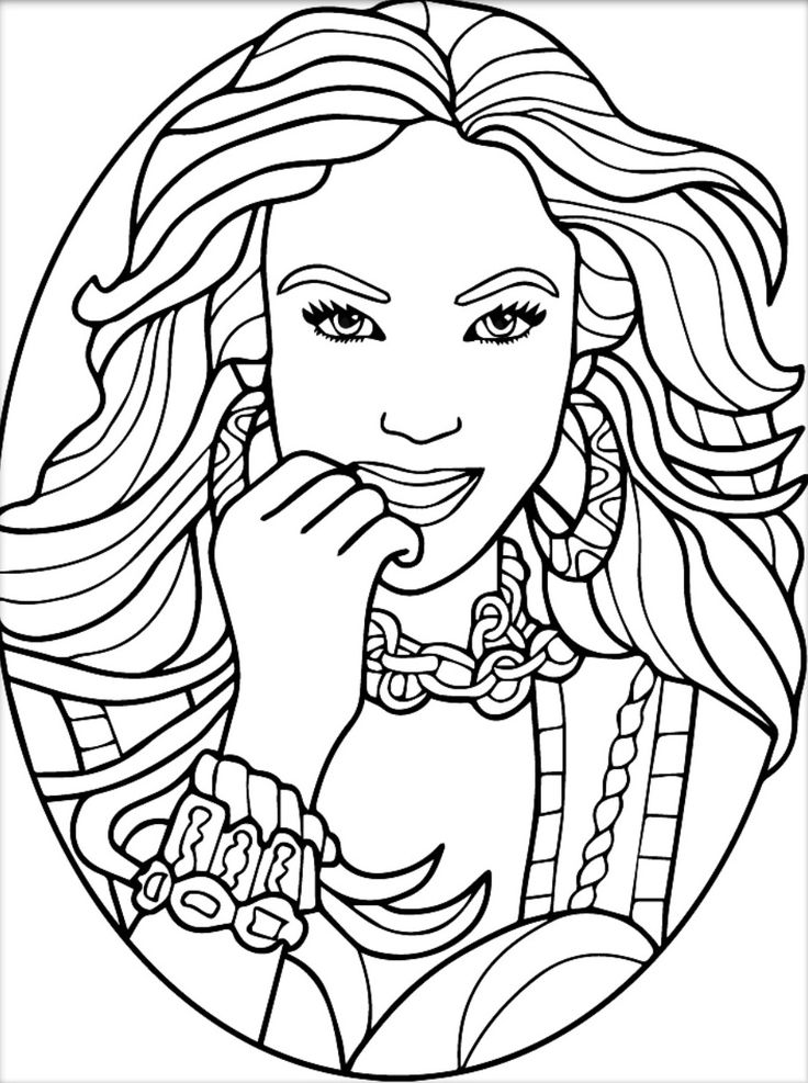 Coloring pages for adults app ~ 882 best Beautiful Women Coloring Pages for Adults images ...