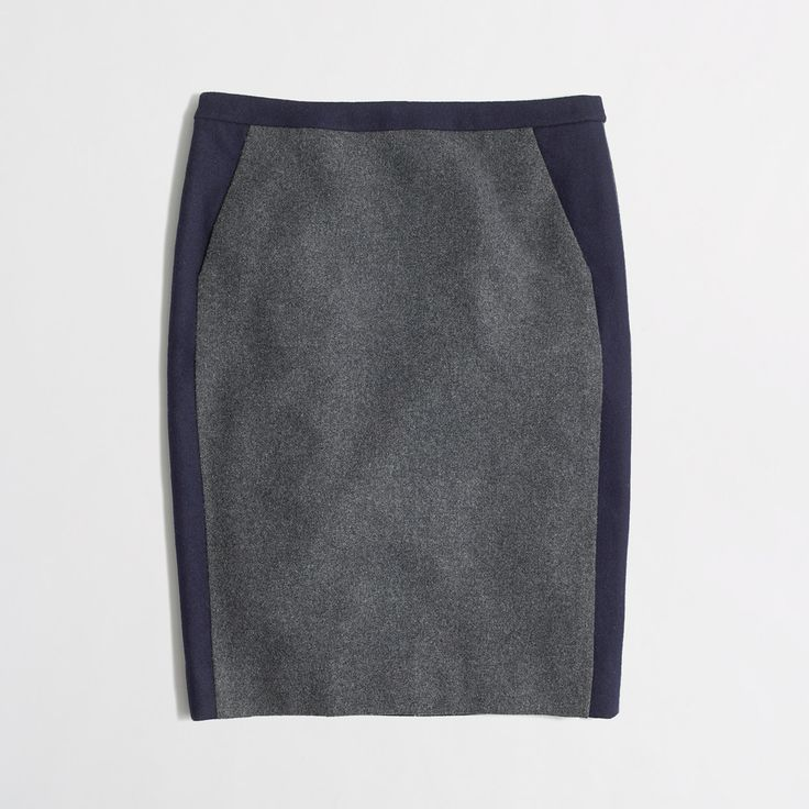 Factory pencil skirt in tipped wool - Women - early_access_2019's View All - J.Crew Factory