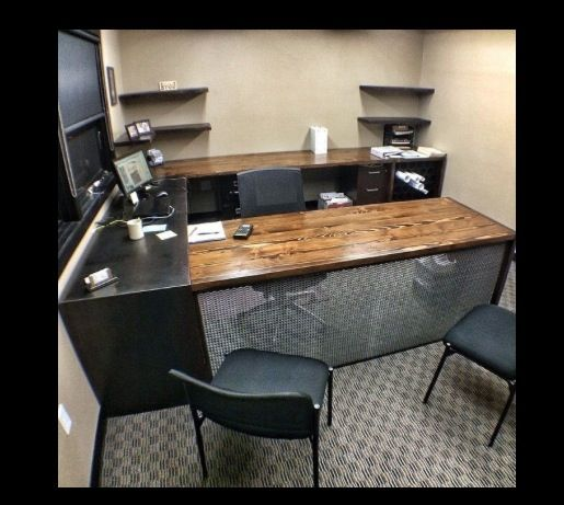 Custom Office Desk From Hot Rolled Steel And Reclaimed Douglas Fir With  Drawer