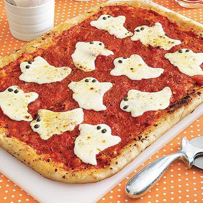 Morzarella Gespenster auf Pizza fun pizza