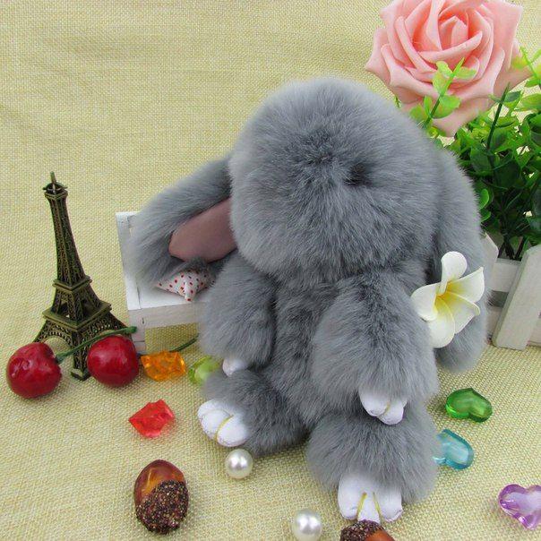 Хит сезона -пушистый кролик из натурального меха / Новые дети
