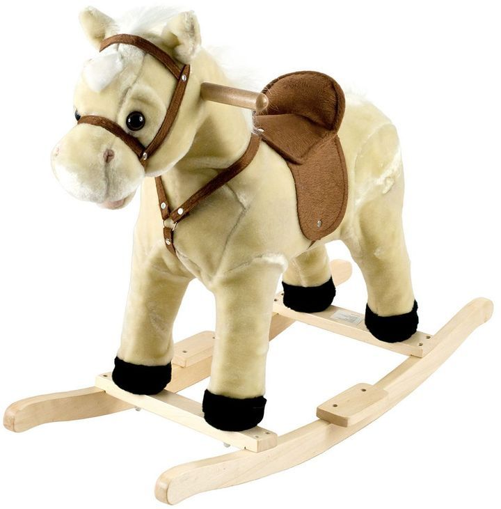 Happy Trails Plush Rocking Lil Henry the Horse  Your cowgirl or cowboy will ride the range for hours with this junior rocking horse.