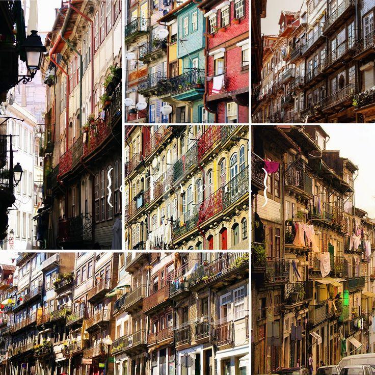 o Porto é... varandas coloridas