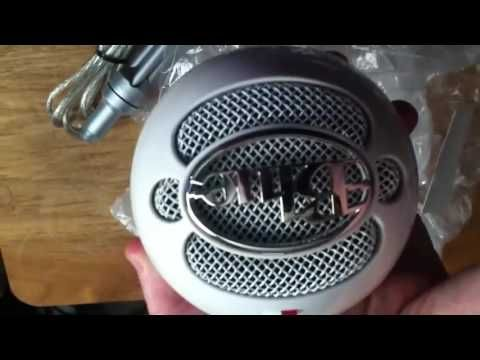 unboxing a blue snowball mic and sound test