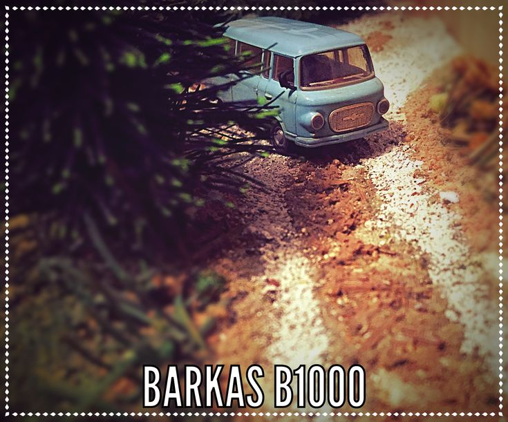 """Popular van of the former """"DDR"""" - German Democratic Republic - produced from 1961 the turn in 1989 - the Barkas B1000; 45 HP; 103 Nm; max. speed 100 km/h. Model scale 1:87, manufacturer Busch"""