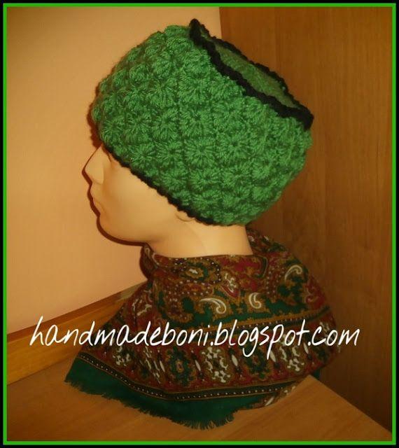 HandmadeBoni: Zielona szydełkowa czapka. Zrób razem ze mną:-)