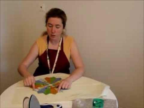 07 Лоскутное шитье Линейка для дрезденской тарелки - YouTube