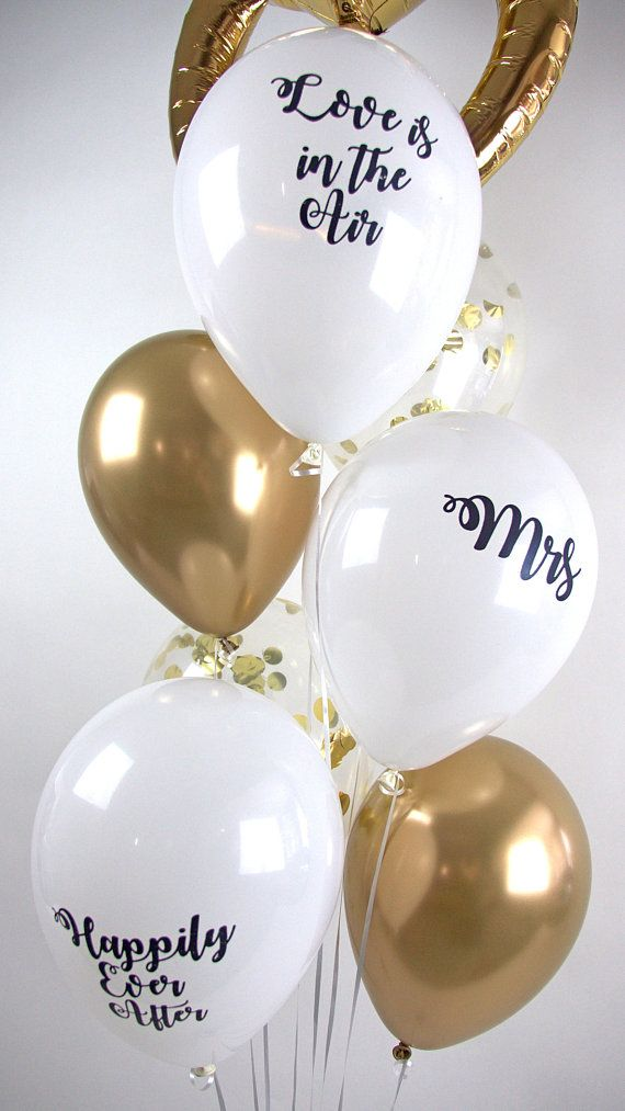 519f830b7a44b0 Pretty white and gold balloons for a classy hen party  henparty  balloons   henpartyideas