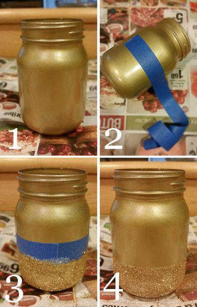 Glitter Mason Jars - Shop Party Boutique