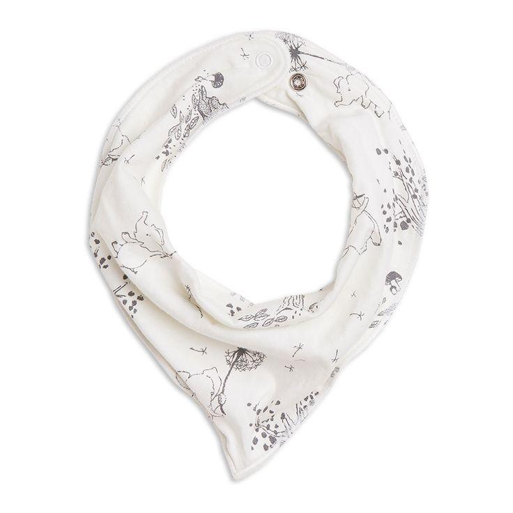 En mjuk scarf i ekologisk bomull med ett sött djurtryck.