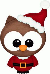 Silhouette Design Store - View Design #71175: santa owl pnc