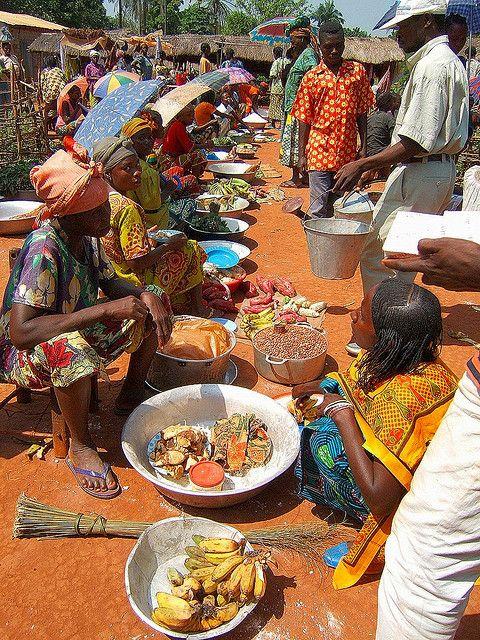 Market in Zemio, Central African Republic.  Photo:  Teseum