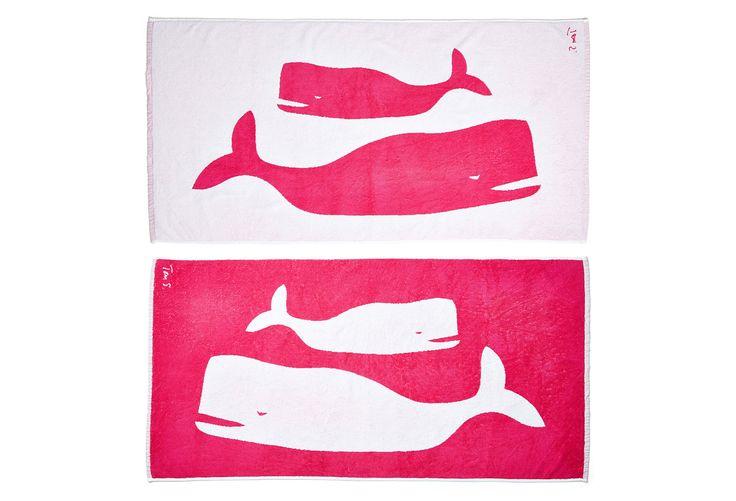 Tom Slaughter, Whales Beach Towel | Beach Towels | One Kings Lane