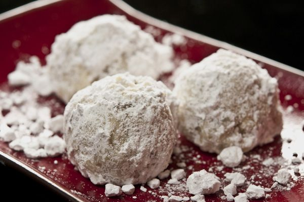 black walnut snowball cookies with orange flower water and Grand ...