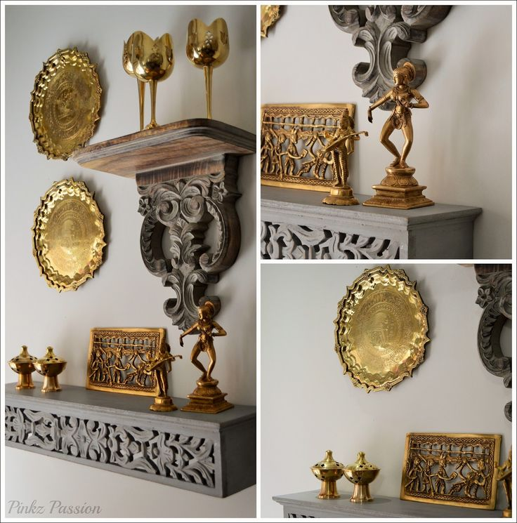 Brass Décor, Brass Vignettes, Global Décor Design, Indian Home Décor, Indian U2026