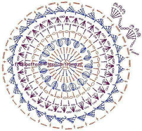 Mandala a crochet                                                                                                                                                     More                                                                                                                                                                                 Más