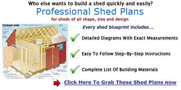 STORAGE SHED PLANS – Free Detailed Blueprints For a 8×12 Shed