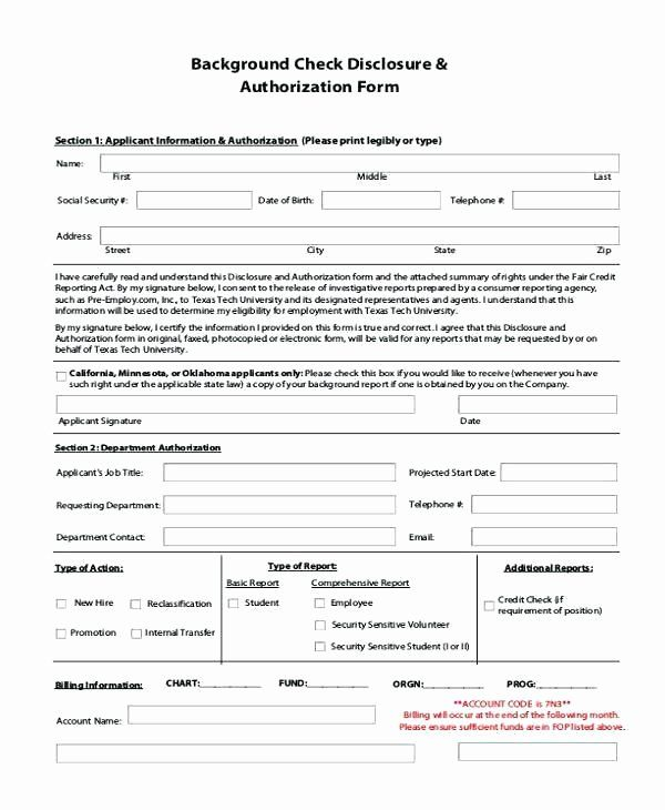Background Check Form Template Inspirational Background Check Authorization Form Template Rental Background Check Form Background Check Tenant Background Check