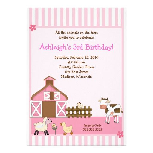 17 best Farm Animal Baby Shower Invitations images – Madison Wi Birth Announcements