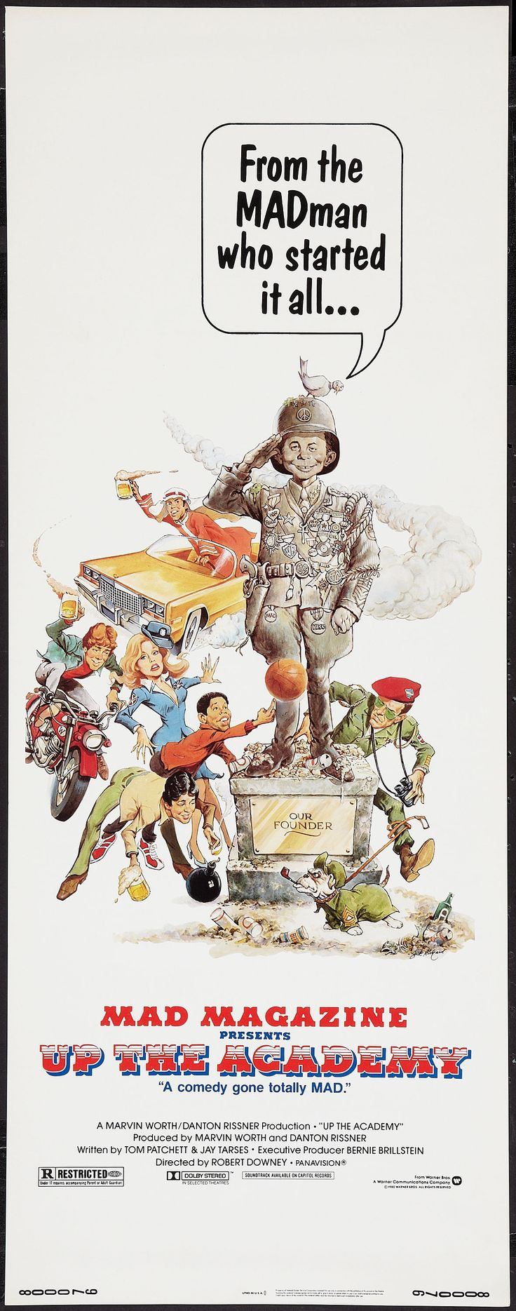 Up the Academy (1980) Stars: Ron Leibman, Wendell Brown, Ralph Macchio, Tommy Citera, Ian Wolfe, Tom Poston, Barbara Bach ~ Director: Robert Downey Sr. (Nominated for 3 Stinkers Bad Movie Awards 1980)