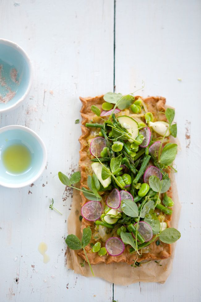 Gluten and dairy free spring vegetable tart | Cannelle et Vanille