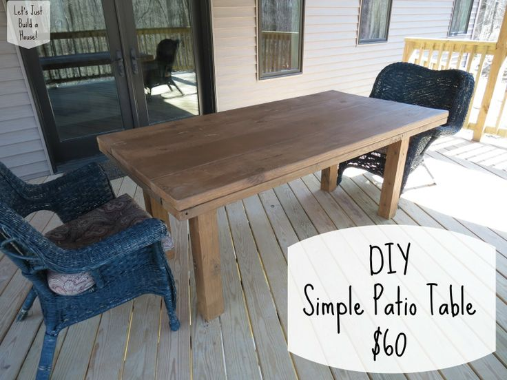 Lovely Check Out How To Build A Simple DIY Patio Table