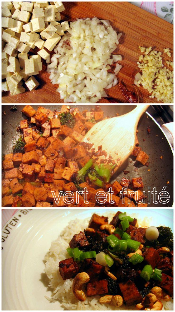 Sauté de tofu aux noix de cajou #sansgluten #vegan http://vertetfruite.com/saute-de-tofu-cajou/