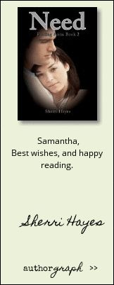 """Authorgraph from Sherri Hayes for """"Need (Finding Anna Book 2)"""""""
