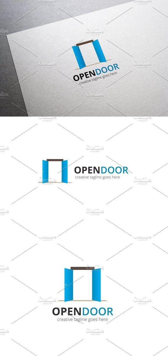 Open Door Logo ロゴデザイン デザイン ドア