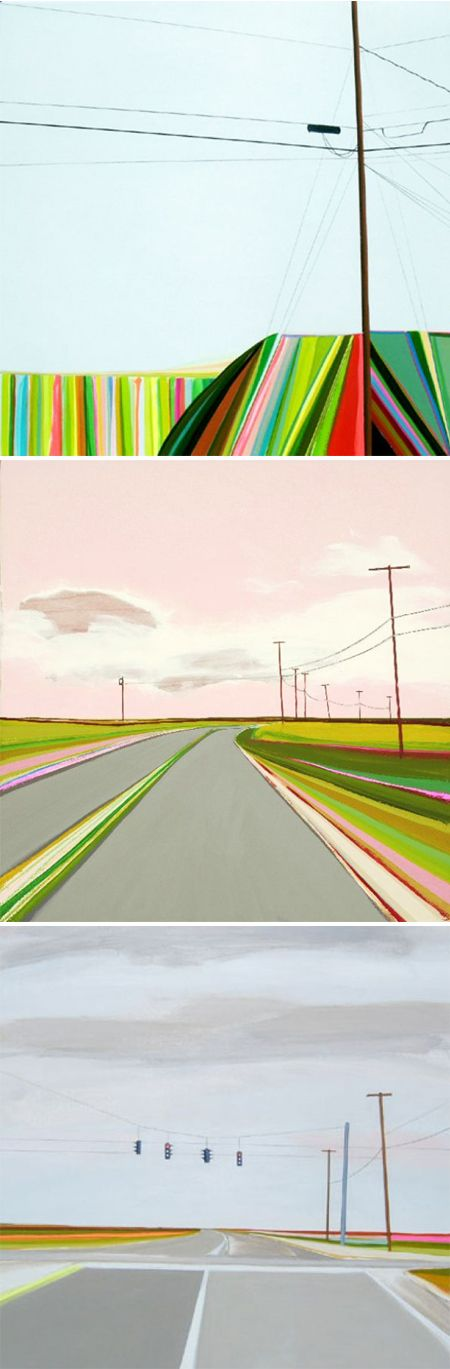 Grant Haffner was raised in the infamous art community of Springs, East  Hampton, within walking distance from the homes of Jackson Pollack and  Willem De Kooning, and the twisting roads and landscapes of the South Fork  dominate his paintings.