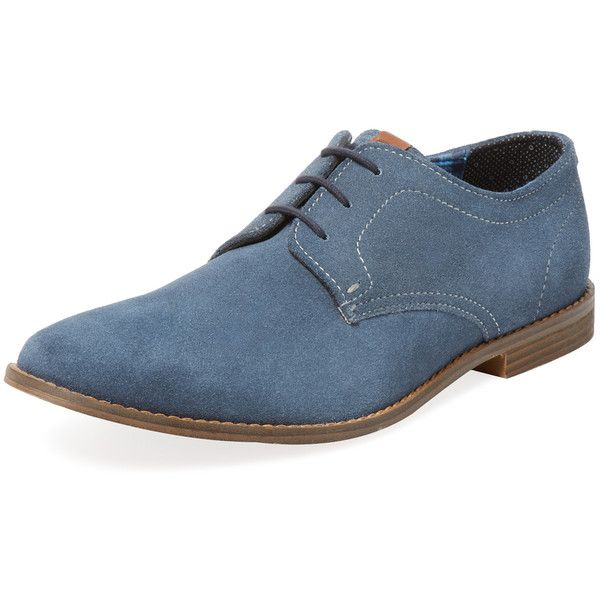 Ben Sherman Men's Gabe Derby Shoe - Blue - Size 40 ($89) ❤ liked on Polyvore featuring men's fashion, men's shoes, men's dress shoes, men, blue, mens blue shoes, mens dress shoes, mens derby shoes, mens blue dress shoes and mens shoes
